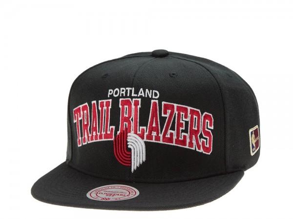 Mitchell & Ness Portland Trail Blazers Team Arch black Snapback Cap
