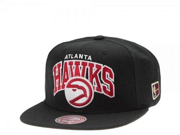 Mitchell & Ness Atlanta Hawks Team Arch black Snapback Cap