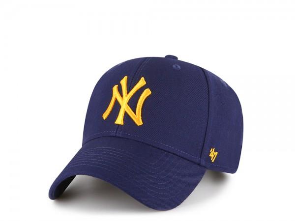 47Brand New York Yankees Navy Yellow MVP Strapback Cap