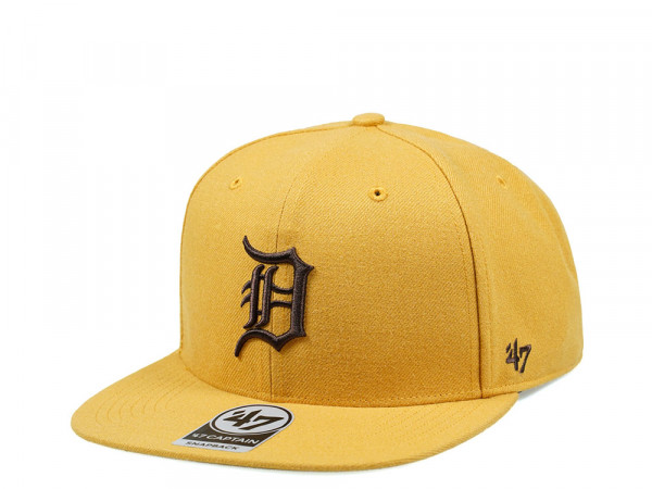 47Brand Detroit Tigers Wheat No Shot Captain Snapback Cap