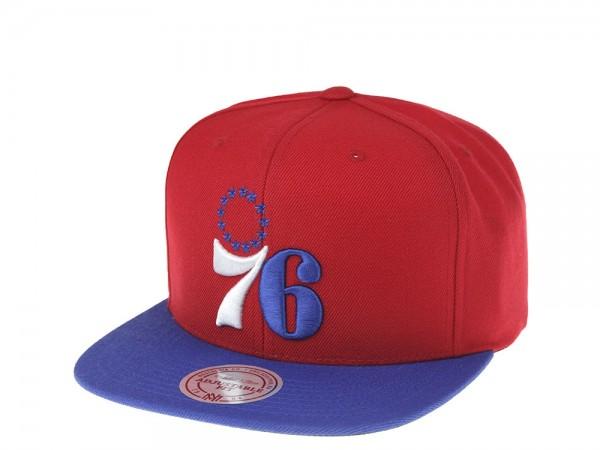 Mitchell & Ness Philadelphia 76ers 2Tone Snapback Cap