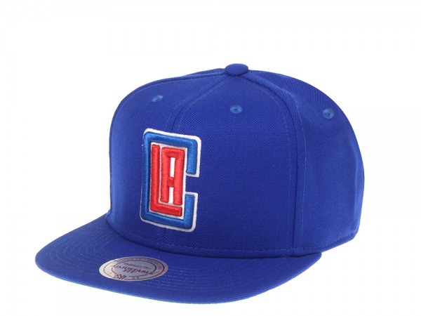 Mitchell & Ness Los Angeles Clippers Wool Solid Snapback Cap