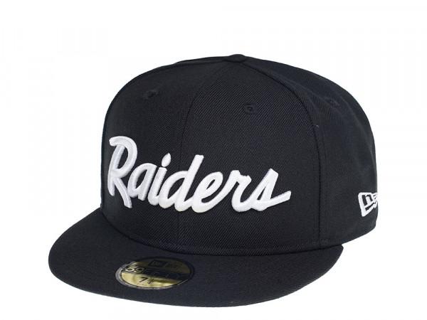 New Era Oakland Raiders Script Editon 59Fifty Fiited Casquette