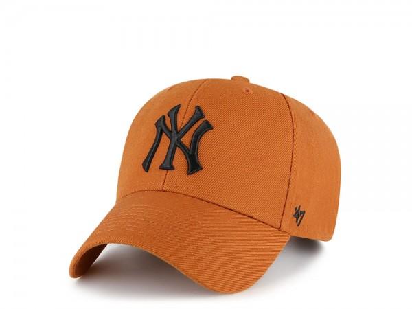 47Brand New York Yankees Burnt Orange MVP Strapback Cap