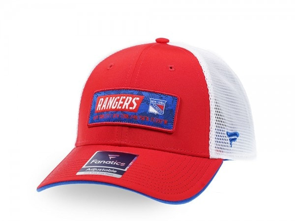 Fanatics New York Rangers Red Iconic Trucker Snapback Cap