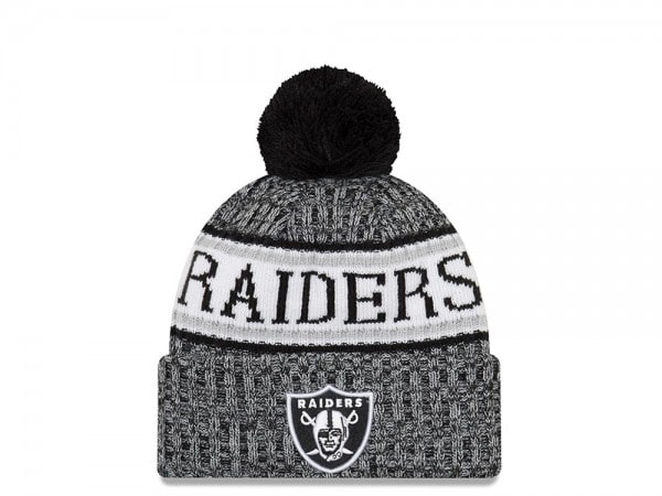 New Era Oakland Raiders Black & White Sideline 2018 Mütze