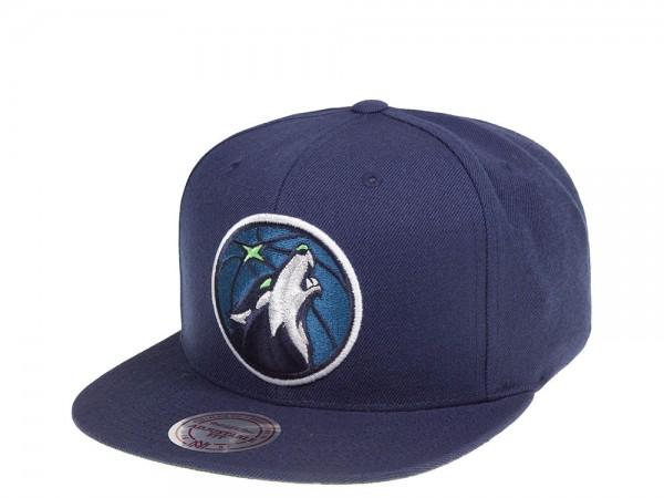 Mitchell & Ness Minnesota Timberwolves Navy HWC Snapback Cap
