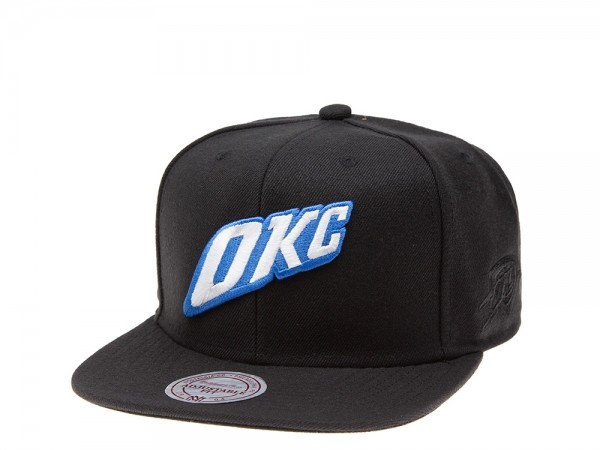 Mitchell & Ness Oklahoma City Thunder Classic Edition Black Snapback Cap