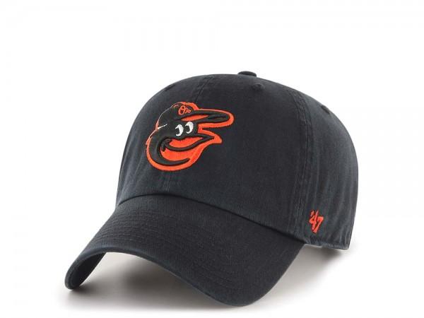47Brand Baltimore Orioles Clean Up Black Strapback Cap