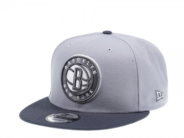New Era Brooklyn Nets Graphite Heather Edition 9Fifty Snapback Cap