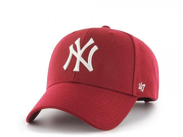 47brand New York Yankees Cardinal Red Snapback Cap